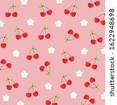 fruit pattern.cute red cherry... | Shutterstock .eps vector #1622948698