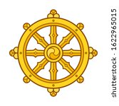 dharmachakra  dharma wheel ...   Shutterstock .eps vector #1622965015