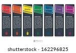 vector info graphic tabs   days ... | Shutterstock .eps vector #162296825
