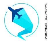 vector symbol of an airplane... | Shutterstock .eps vector #1622987998
