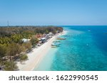 beach with many boats on gili... | Shutterstock . vector #1622990545