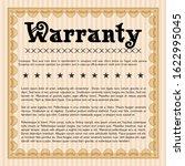 orange vintage warranty... | Shutterstock .eps vector #1622995045