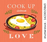 sweetheart holiday vector... | Shutterstock .eps vector #1623015865