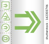 simple icon set of arrows on... | Shutterstock .eps vector #162303746