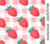 strawberry seamless pattern... | Shutterstock .eps vector #1623070708