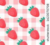 strawberry seamless pattern... | Shutterstock .eps vector #1623070708