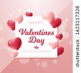 valentine's day background.... | Shutterstock .eps vector #1623117328