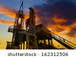 oil production into the sea... | Shutterstock . vector #162312506