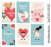 valentines day cards collection.... | Shutterstock .eps vector #1623213532
