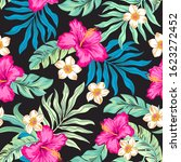 tropical flowers hibiscus and...   Shutterstock .eps vector #1623272452