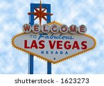 las vegas strip sign with cloud ... | Shutterstock . vector #1623273