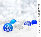 blue and silver christmas... | Shutterstock . vector #162327692