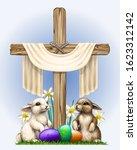 Celebration Of Easter. Wooden...
