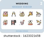 wedding filled icons pack for...