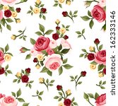 vintage seamless pattern with... | Shutterstock .eps vector #162333146