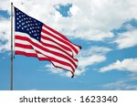 american flag against clouds | Shutterstock . vector #1623340
