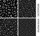 numbers pattern. vector... | Shutterstock .eps vector #162334166