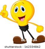cartoon light bulb pointing his ...