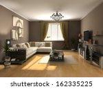 modern interior design  private ... | Shutterstock . vector #162335225