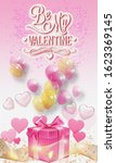 valentines day background with... | Shutterstock . vector #1623369145
