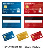 vector credit cards | Shutterstock .eps vector #162340322
