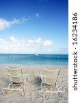 bench in front of beach | Shutterstock . vector #16234186
