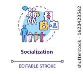 socialization concept icon.... | Shutterstock .eps vector #1623423562