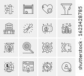 16 business universal icons...   Shutterstock .eps vector #1623428785