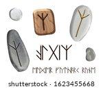 set of algiz runes elder... | Shutterstock . vector #1623455668