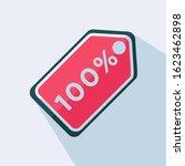 100  discount tag flat vector...