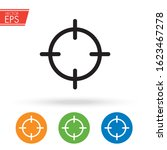 target and sniper scope icon.... | Shutterstock .eps vector #1623467278