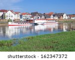 Small photo of Village of Minden at Weser River,Germany