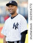 Small photo of BRONX, NY - MAY 10: New York Yankees shortstop Derek Jeter (2) smiles before the game against the Tampa Bay Rays on May 10, 2012 at Yankee Stadium.