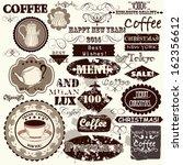 vector set of calligraphic... | Shutterstock .eps vector #162356612