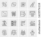 16 business universal icons...   Shutterstock .eps vector #1623576118