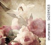 art floral vintage sepia... | Shutterstock . vector #162359315
