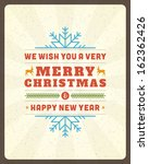 christmas postcard ornament...   Shutterstock .eps vector #162362426