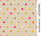 hand drawn polka dot seamless... | Shutterstock .eps vector #162363482