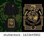 asian tiger design on...   Shutterstock .eps vector #1623645802