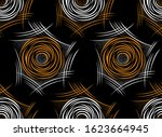 seamless abstract rose flower... | Shutterstock .eps vector #1623664945