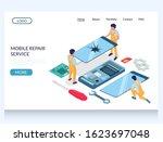 mobile repair service vector...   Shutterstock .eps vector #1623697048