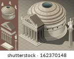 isometric pantheon building... | Shutterstock .eps vector #162370148
