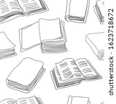 books seamless pattern.... | Shutterstock .eps vector #1623718672