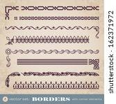borders with corner elements  ... | Shutterstock .eps vector #162371972