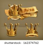 gold crown  vector icon | Shutterstock .eps vector #162374762