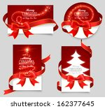 gift cards with red bows | Shutterstock .eps vector #162377645
