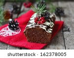 Christmas Chocolate Cake.