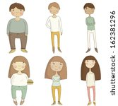 isolated characters in the... | Shutterstock .eps vector #162381296