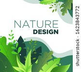 nature design template for... | Shutterstock .eps vector #1623843772