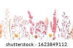 Watercolor Floral Horizontal...